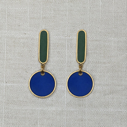 Mini Oval Drops Earrings in Your Choice of Colors