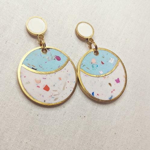Confetti Moon Earrings