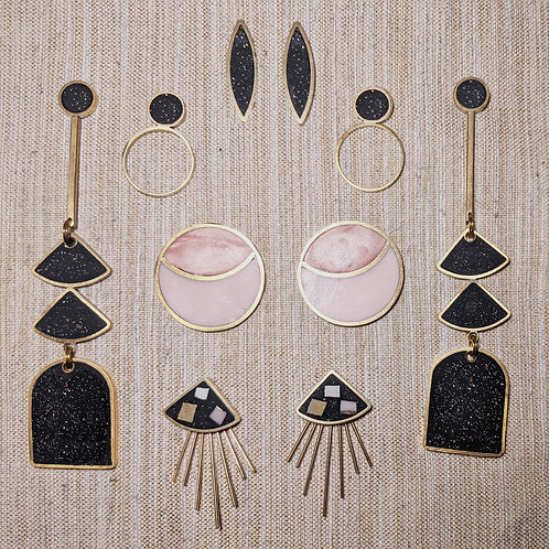 Ready to Ship and One of a Kind Earrings in Night Sky