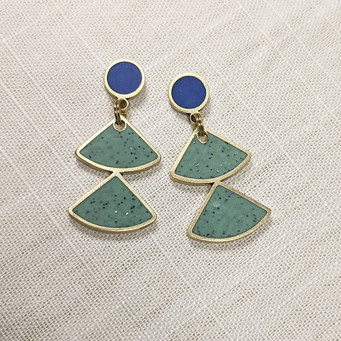 Dancing Fans Earrings in Your Choice of Colors
