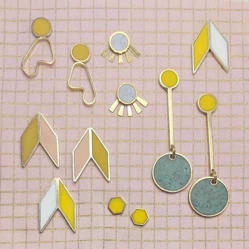 Dali Dot-Dash Earrings in Your Choice of Colors