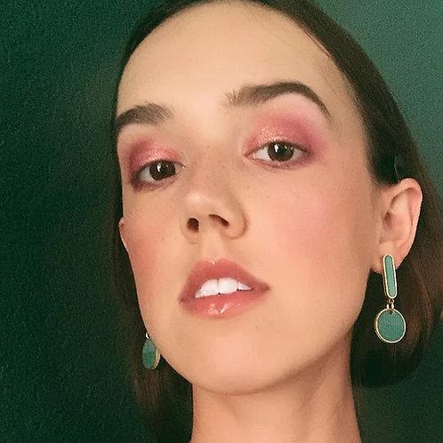 Mini Oval Drops Earrings in Greens - Ready to Ship