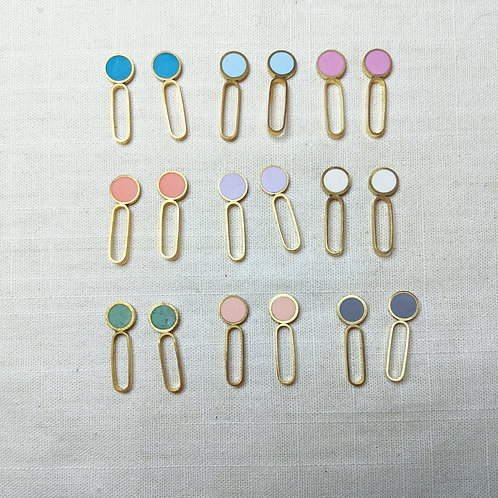 Dot-Dash Earrings in Your Choice of Colors