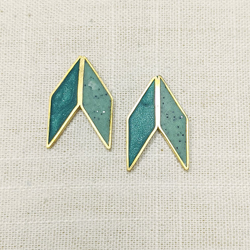 Double Diamonds Earrings in Your Choice of Colors