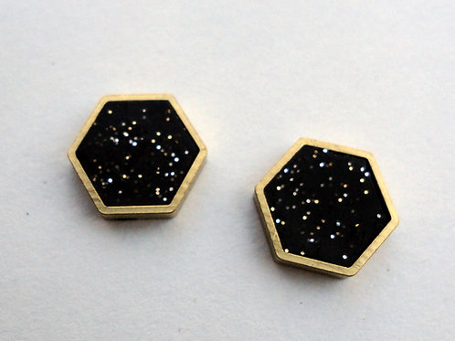 Hexagon Studs in Your Choice of Colors