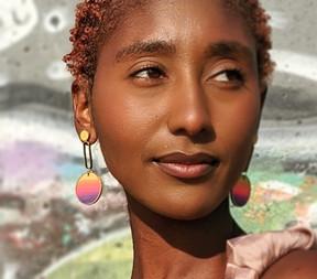 Sunset Gradient Porthole Earrings