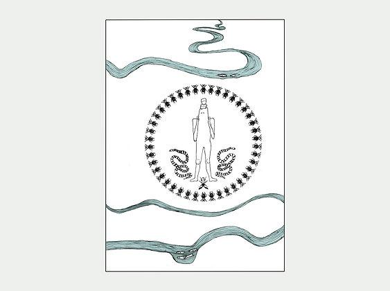 Le fleuve - sérigraphie | Studio Ulle Von Foladore