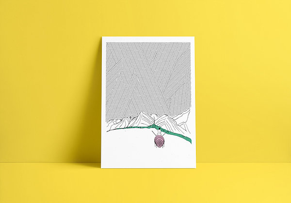 La montagne - sérigraphie   Studio Ulle Von Foladore