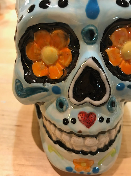 Sugar Skull Figure  -Pines
