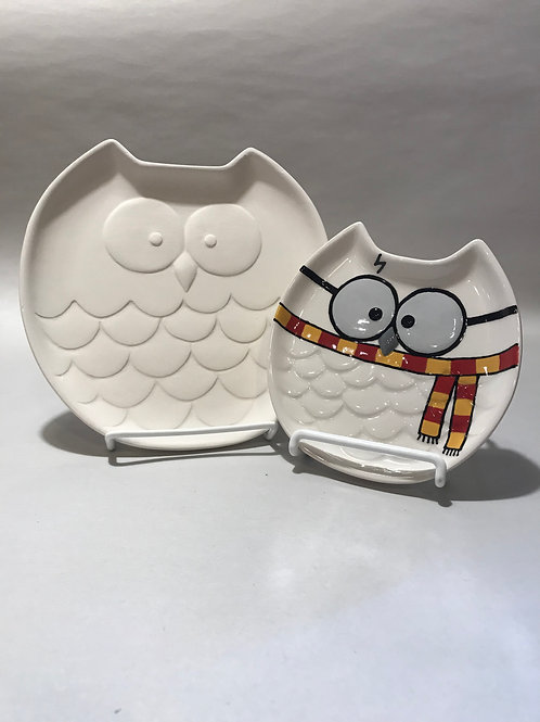 LARGE Hedwig Owl Dish