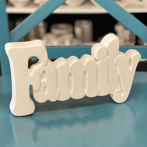 Family Standing Plaque (LARGE) Kit - Northwest Blvd.