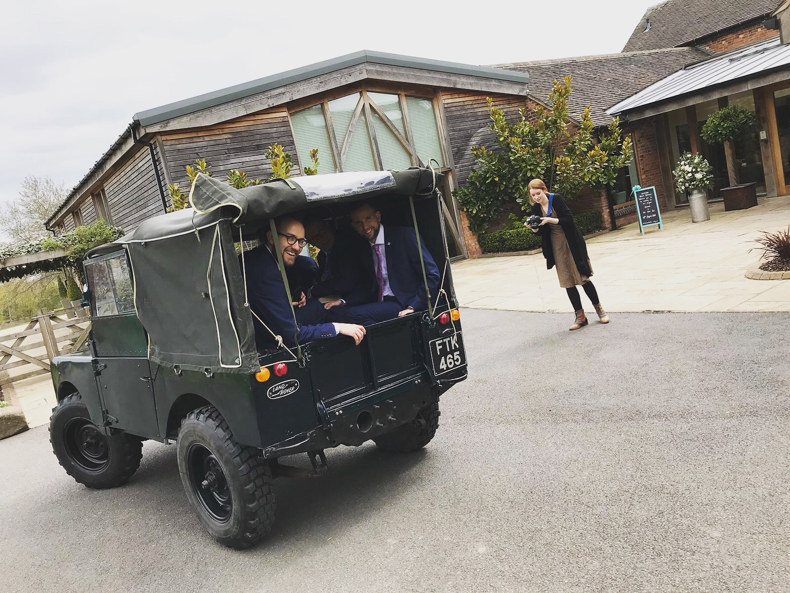 Land Rover Series I wedding car