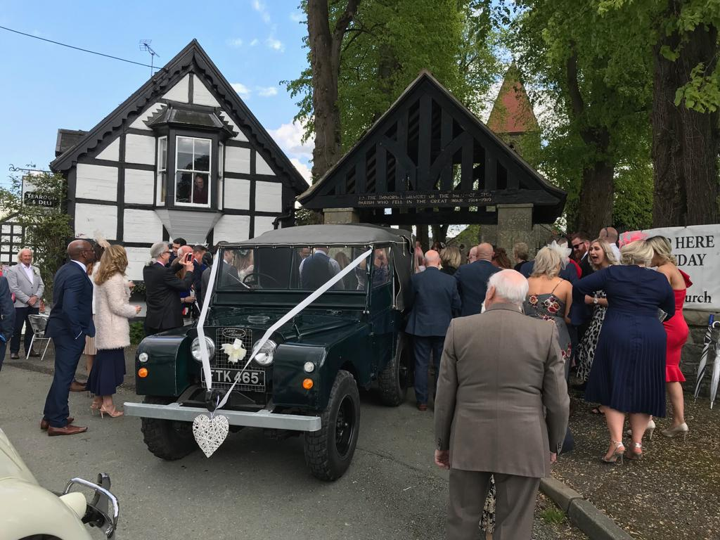 landrover wedding