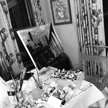 Painting in the dining room.jpg