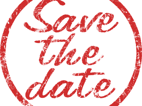 SAVE THE DATE - 12 & 17 Sept. 2019