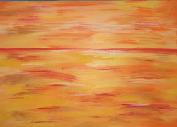 Orange seascape