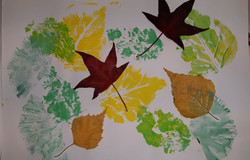 Leaves collage