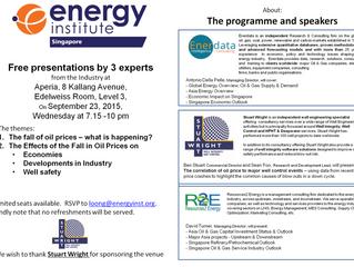 Stuart Wright to present at Energy Institute Singapore seminar