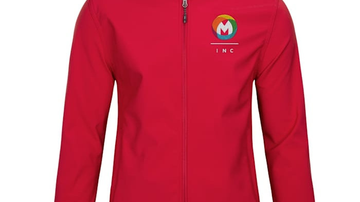 Embroidered Men's Softshell Jacket