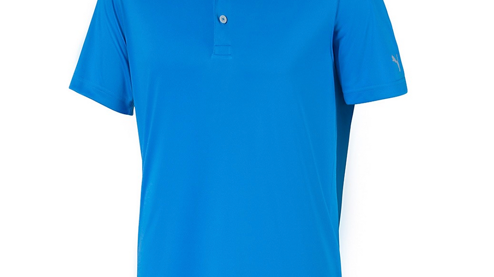 Custom Logo Puma ROTATION GOLF POLO- Ibiza Blue
