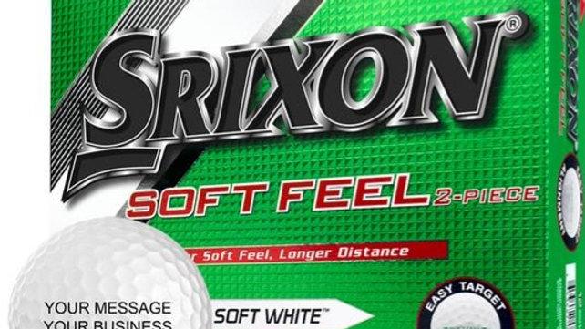 Srixon Soft Feel Golf Balls (1-Dozen)- Custom Logo Offer