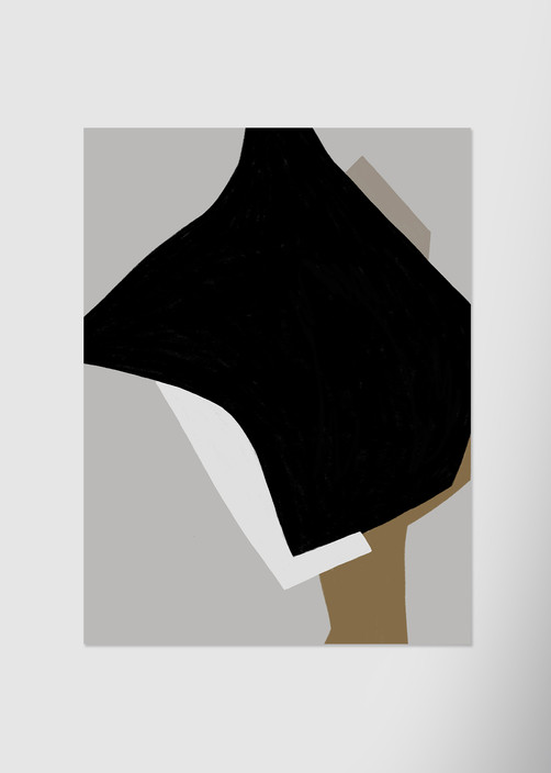 Композиция с черным пятном №2
