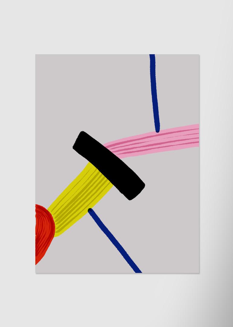 Абстракция со штриховкой №2