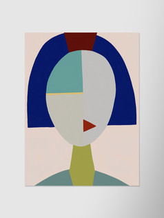 Портрет с синим каре
