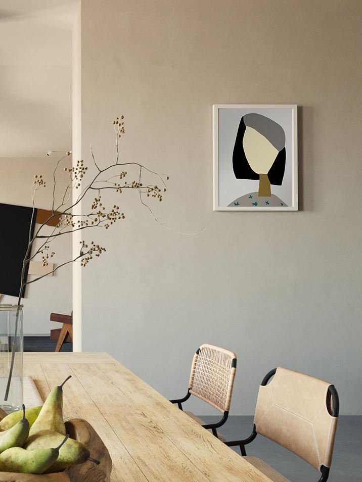 Серый портрет-интерьер-Ольга Фрадина