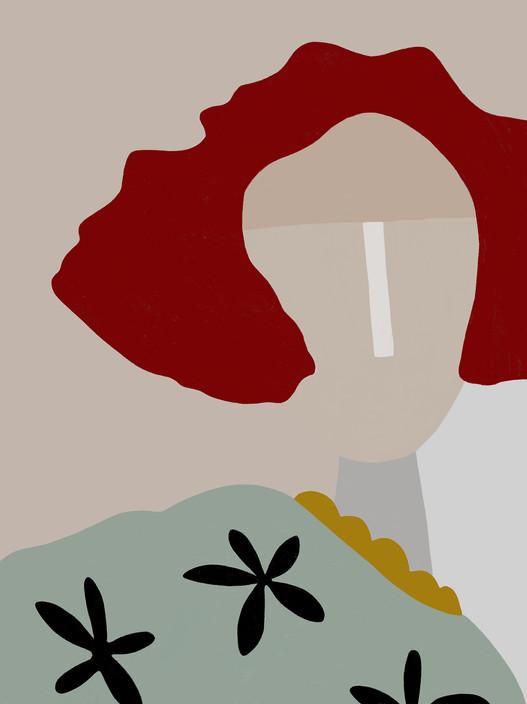 Портрет рыжей девушки