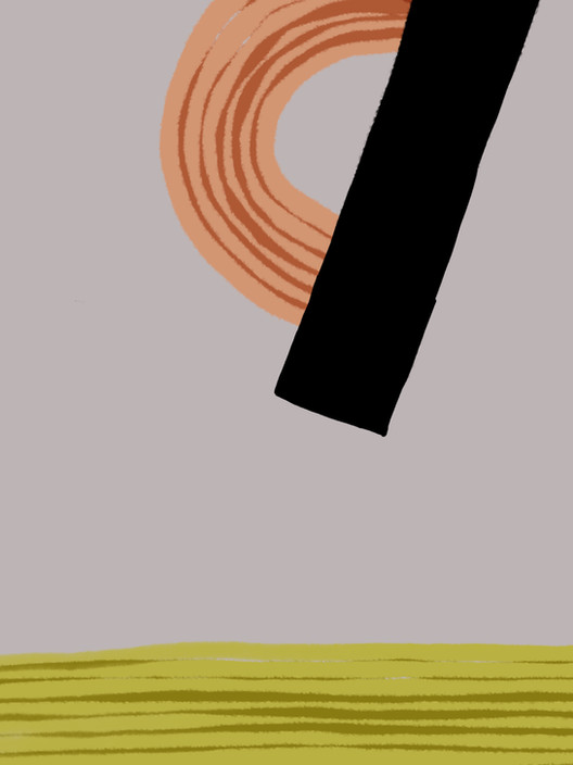 Абстракция со штриховкой №3