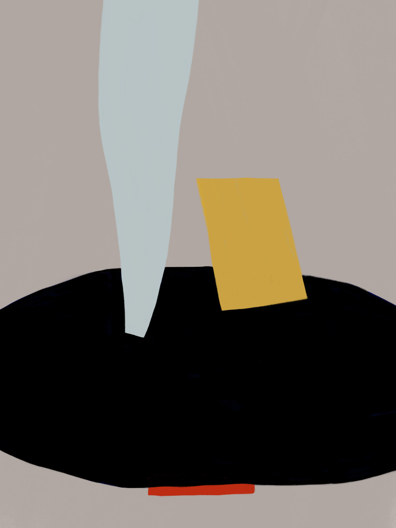 Абстракция с голубой полосой