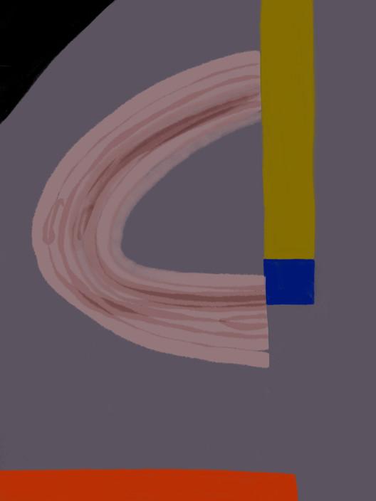 Абстракция со штриховкой №1