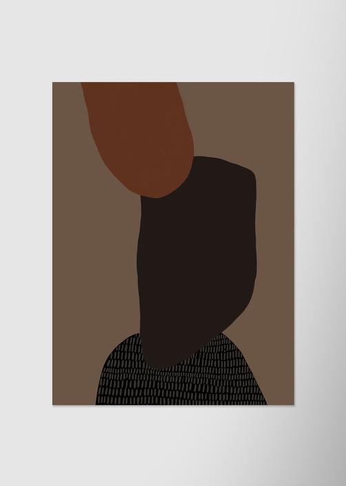 Натюрморт на темно-бежевом фоне