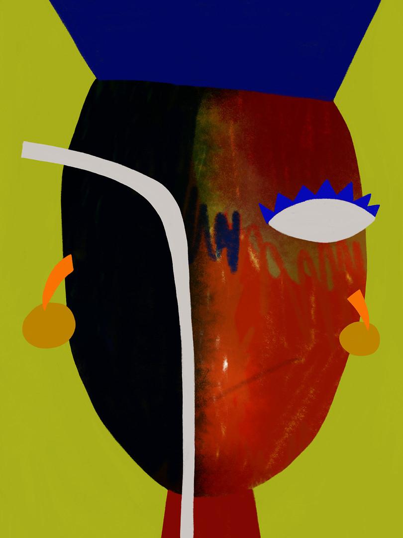 Портрет с серьгами