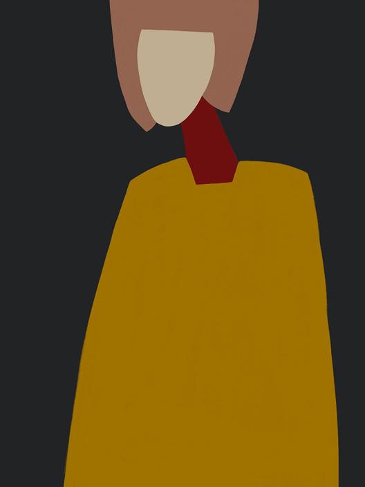 Портрет в охровом платье