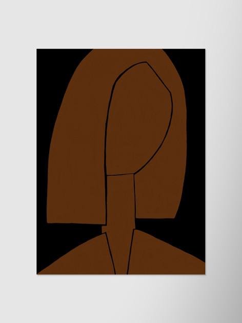 Портрет на черном фоне