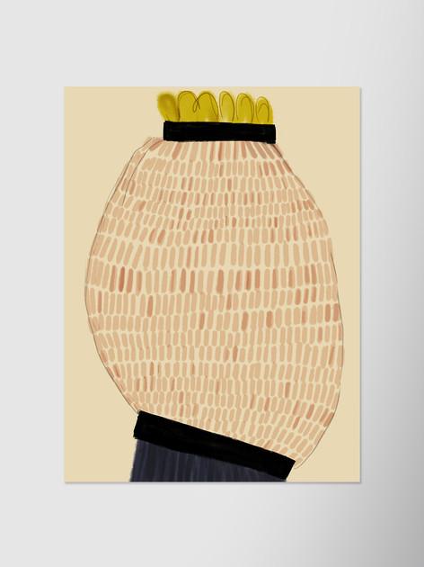 Ваза в форме желтого граната