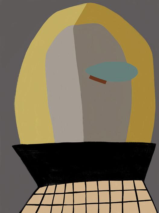 Портрет в серо-желтых оттенках