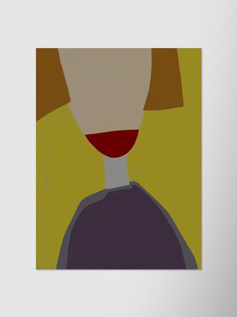 Нюансный портрет на желтом