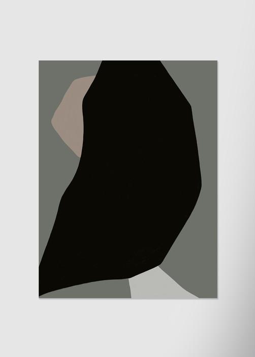 Композиция с черным пятном №3