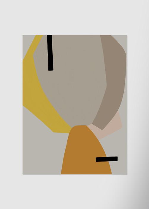 Абстракция с элементами портрета