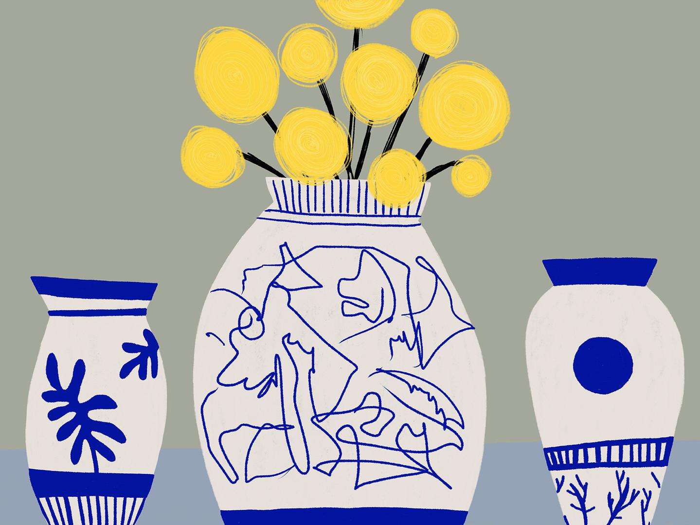 Натюрморт с китайскими вазами