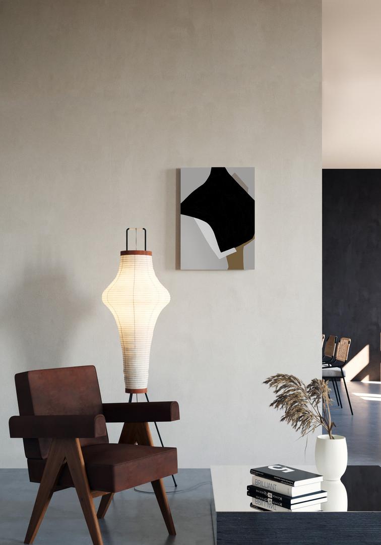 Композиция с черным пятном №2-интерьер-Ольга фрадина