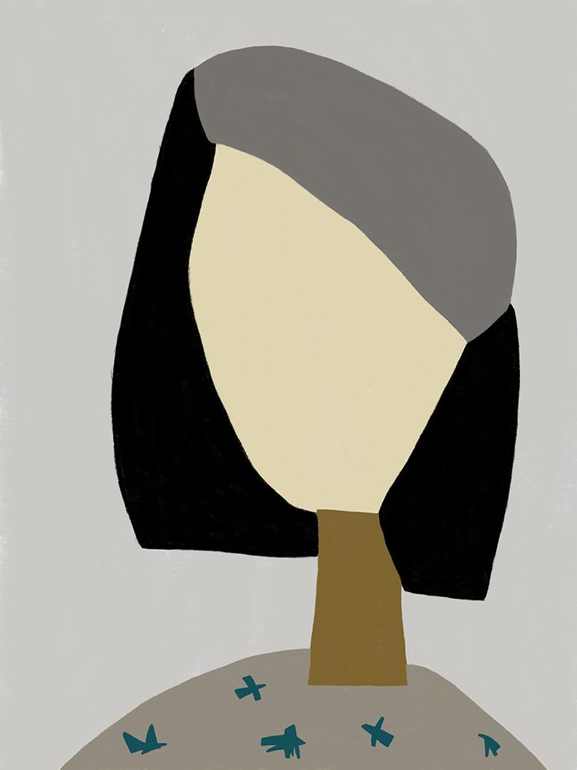 Серый портрет