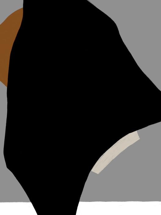 Композиция с черным пятном №1