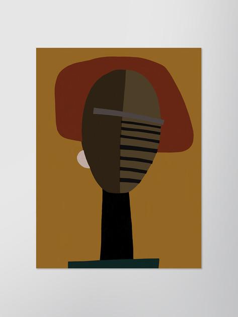 Портрет с охровым фоном