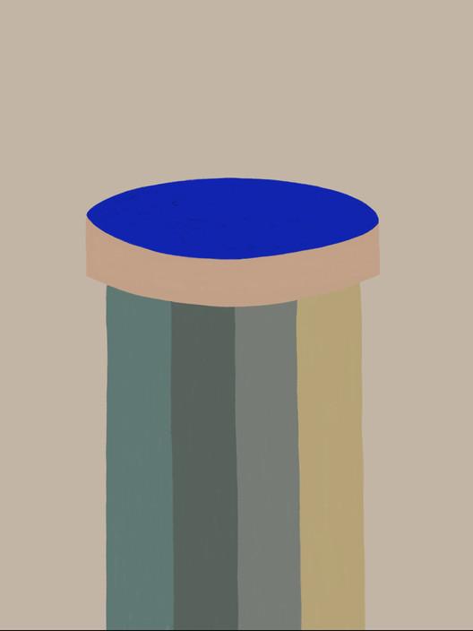 Синяя линза