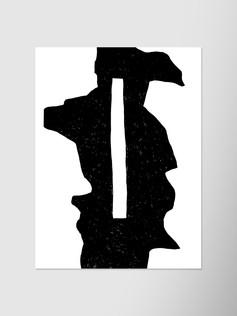 Черная абстракция с прямоугольником