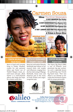 Jazzwise & Songlines Nov 2019 ad